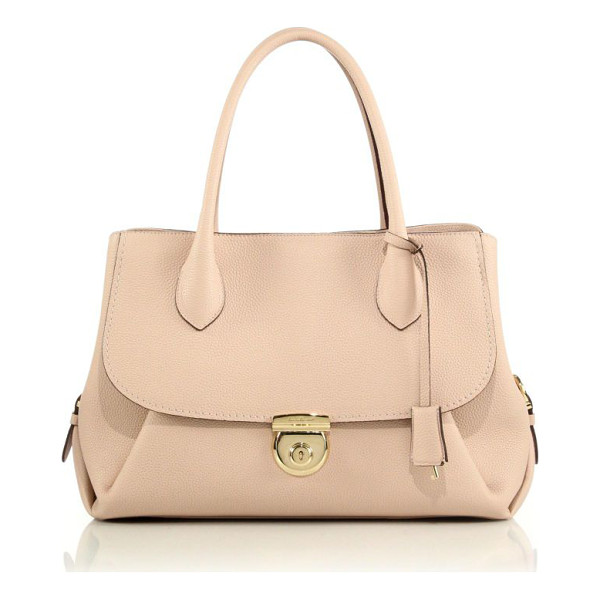 SALVATORE FERRAGAMO fiamma medium pebbled leather tote - Exquisitely crafted from soft pebbled leather, this...