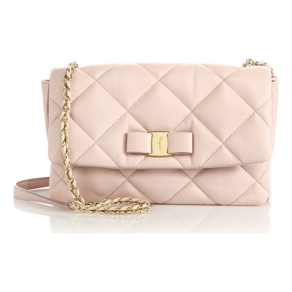 SALVATORE FERRAGAMO Gelly quilted nappa leather shoulder bag - From the Vara Soft Quilted CollectionSoftly quilted design...