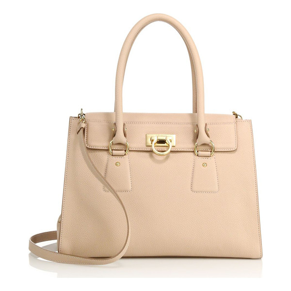 SALVATORE FERRAGAMO lotty small leather satchel - Sophisticated leather satchel with two-compartment...