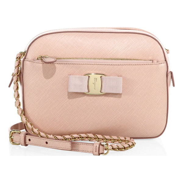 SALVATORE FERRAGAMO Lydia saffiano leather crossbody - From the Vara Collection. An enduring petite style, crafted...