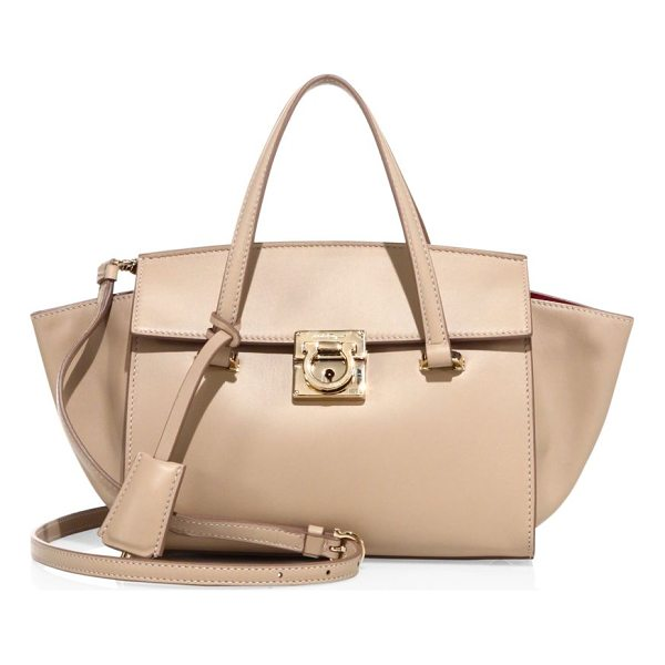SALVATORE FERRAGAMO mara leather tote - Smooth, solid leather tote with spacious interior. Double