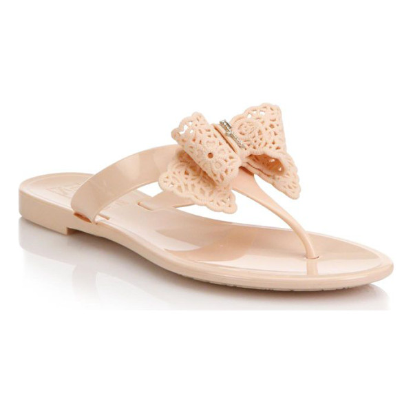 SALVATORE FERRAGAMO Pandy bow jelly thong sandals - A logo-detailed bow offers feminine style to a timeless...