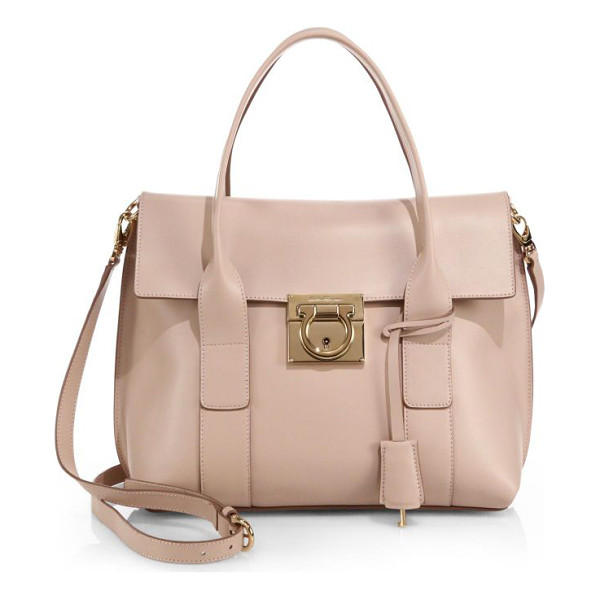 SALVATORE FERRAGAMO Small sookie leather satchel - The sharp silhouette of this refined satchel is cut from...