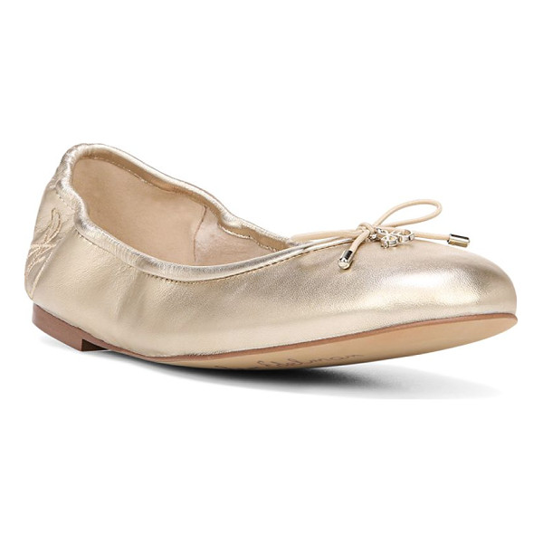 SAM EDELMAN felicia leather ballet flats - Leather ballet flats in a trend-right metallic finish....