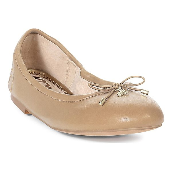 SAM EDELMAN felicia flats - Simple bow accented ballet flats. Round toe. Bow decoration...