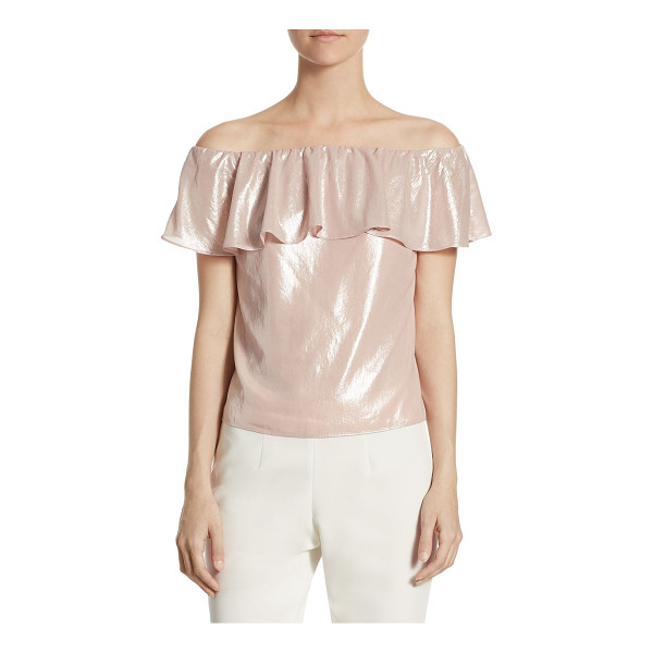 SCRIPTED metallic off-the-shoulder blouse - Exclusively at Saks Fifth Avenue. Off-the-shoulder blouse...