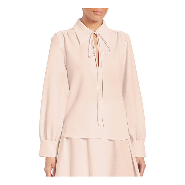 SEE BY CHLOE crepe collared blouse - Stylish blouse fashioned with stylish pleats. Spread collar...