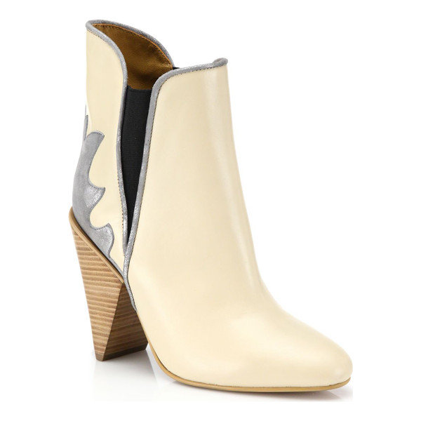 SEE BY CHLOE Skyla leather cowboy booties - Classic cowboy-boot styling in modern silhouetteStacked...