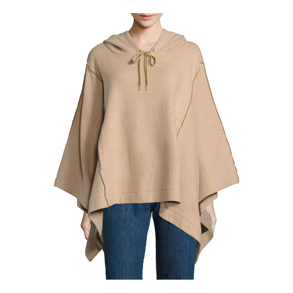 SEE BY CHLOE hooded knit poncho - Exposed seams outline hooded knit poncho. Attached...