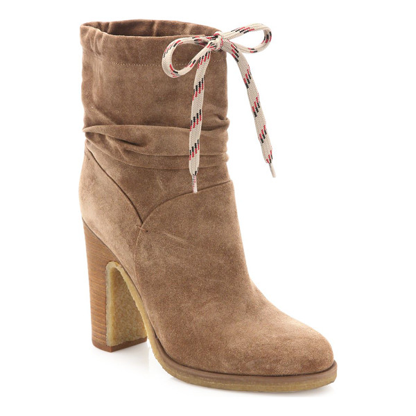 SEE BY CHLOE jona suede booties - Casual chic booties with a functional sporty lace. Stacked...