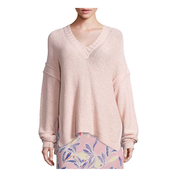 SEE BY CHLOE knit v-neck sweater - Solid knit sweater designed for a relaxed fit. Ribbed...