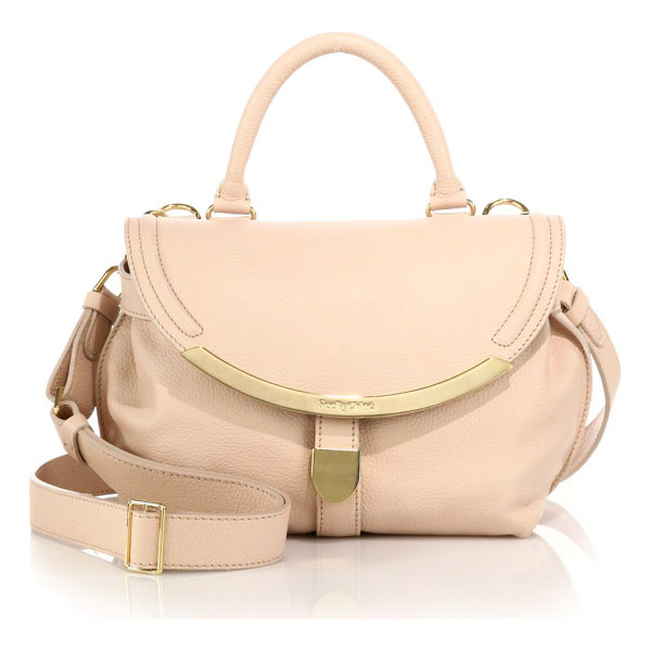 SEE BY CHLOE Lizzie small satchel - Sleek metal trimmings lend refined glamour to this soft...