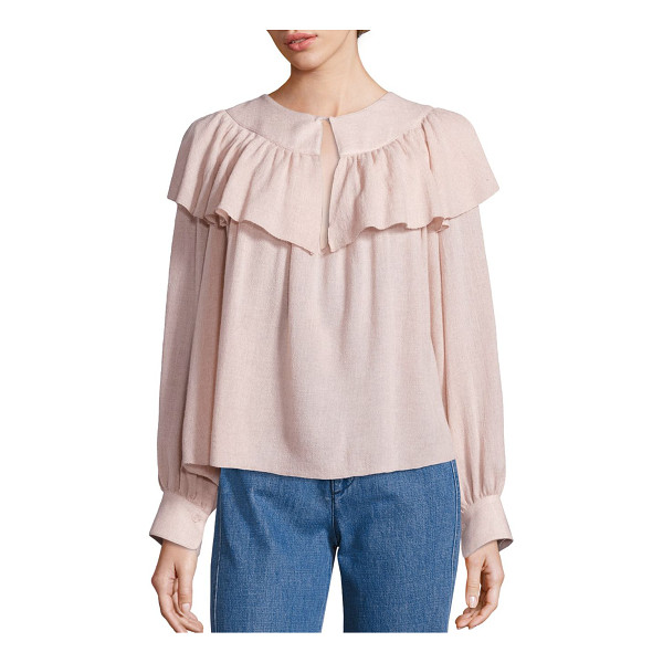 SEE BY CHLOE ruffled gauze top - Attractive ruffled overlay style this feminine top. Front...