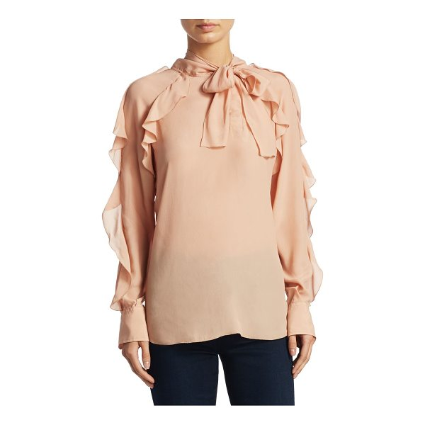 SEE BY CHLOE tie neck ruffle blouse - Chic blouse with ruffle details. High neck with self-tie....