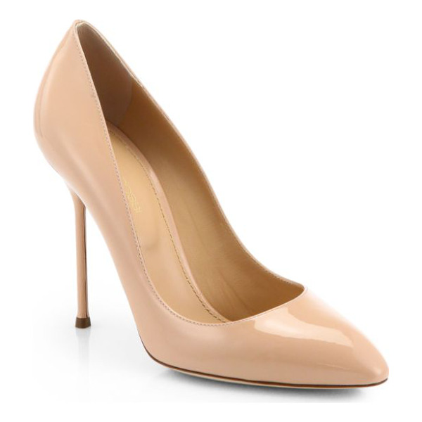 SERGIO ROSSI Chi chi patent leather pumps - Make your legs look irresistibly long with a timeless...