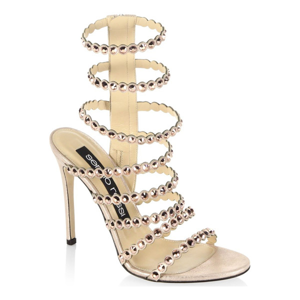 SERGIO ROSSI kimberly crystal gladiator sandals - From the Kimberly collections. Striking jewel details on...