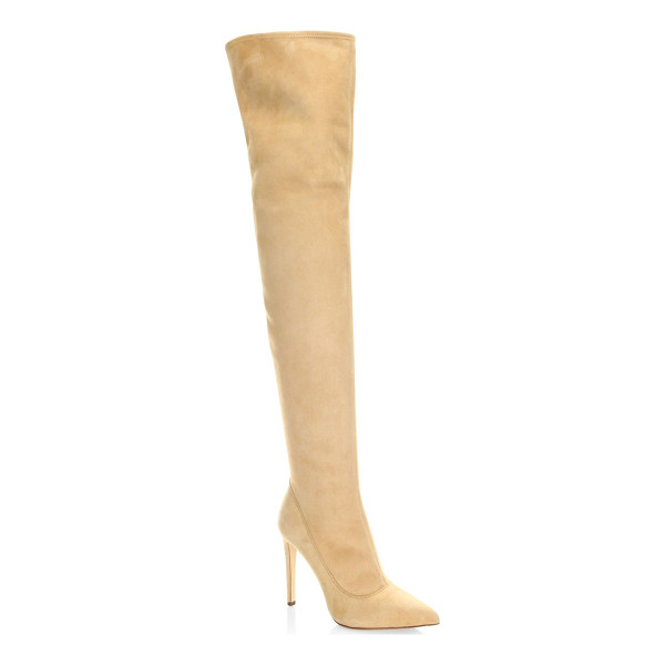 SERGIO ROSSI matrix suede over-the-knee boots - From the Matrix Collection. Luxe over-the-knee boots with...