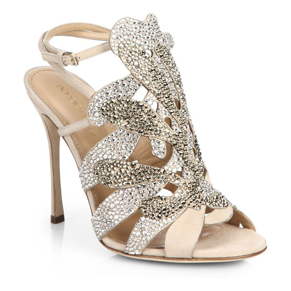 SERGIO ROSSI Matisse swarovski crystal sandals - Twinkling rhinestones illuminate the modern-chic abstract...