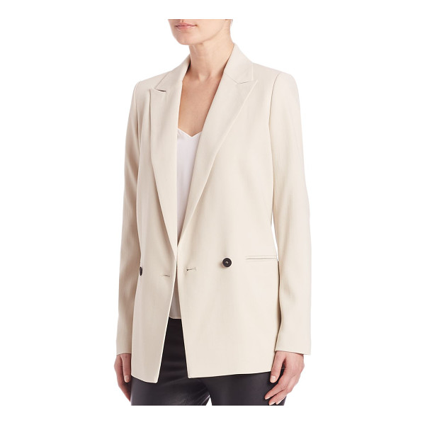 SET oyster double-breasted blazer - EXCLUSIVELY AT SAKS FIFTH AVENUE. Crisp blazer styled with...