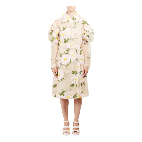 SIMONE ROCHA double breasted floral jacket - Semi-sheer design with beautiful floral embroidery. Peter...