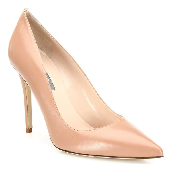 SJP BY SARAH JESSICA PARKER fawn leather point toe pumps - EXCLUSIVELY AT SAKS IN TAN. Timelessly classic point-toe