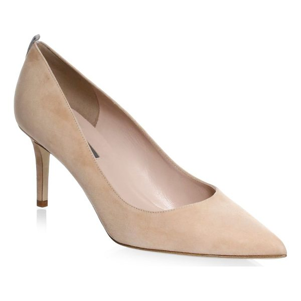 SJP BY SARAH JESSICA PARKER fawn point toe suede pumps - A contrast stripe elevates these urbane suede pumps....