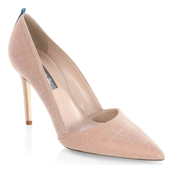 SJP BY SARAH JESSICA PARKER rampling lame point toe pumps - EXCLUSIVELY IN PINK LAME AT SAKS FIFTH AVENUE. Shimmering...