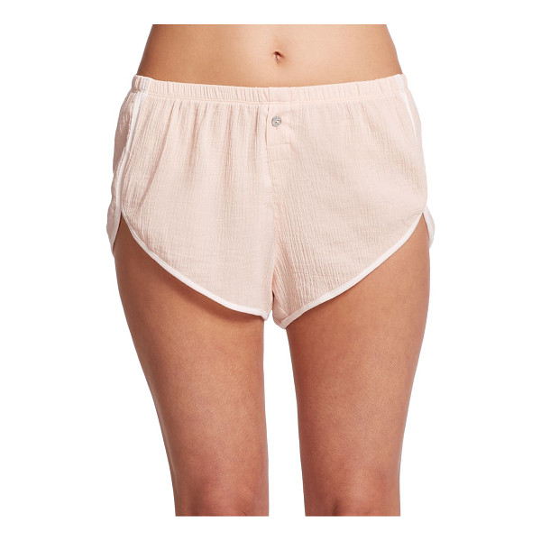 SKIN Gauzy cotton shorts - A light and airy cotton construction lends a soft,...