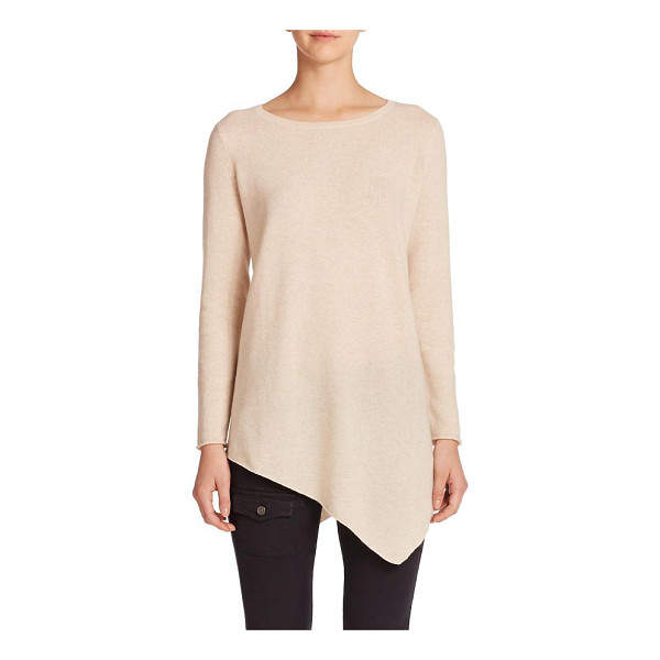 JOIE Tambrel asymmetrical hem wool/cashmere sweater - A pointed handkerchief hem in front and back creates drama...