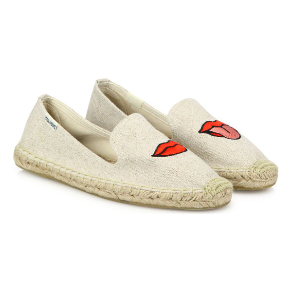 SOLUDOS lips canvas espadrille flats - From the Jason Polan for Soludos Collaboration Collection....