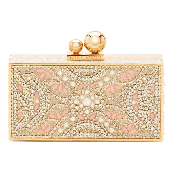SOPHIA WEBSTER clara ball clasp clutch - Embellished clutch featuring ball clasp closure. Ball clasp...