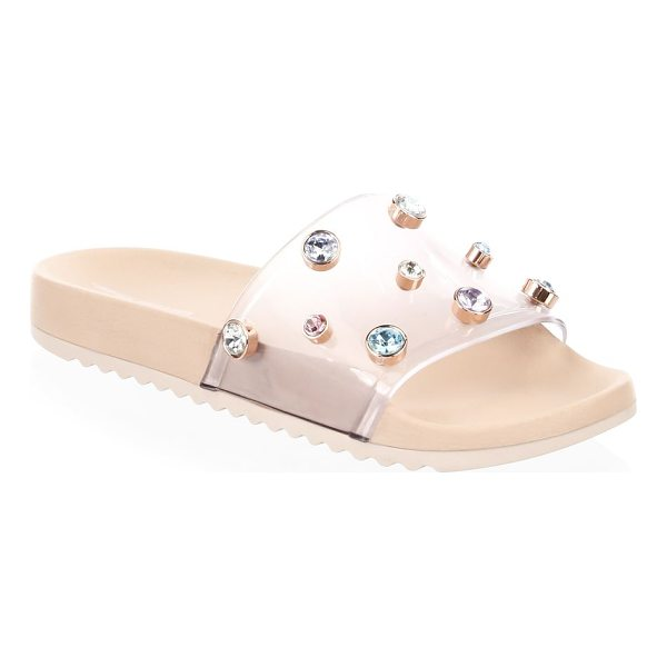 SOPHIA WEBSTER dina embellished slides - PVC slides with multicolored gem embellishments. PVC upper....