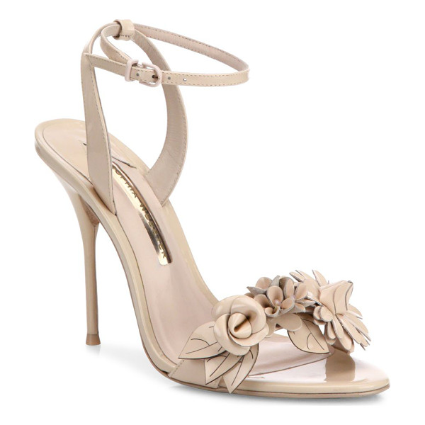 SOPHIA WEBSTER lilico flower embellished leather sandals - Attractive flower applique uplifts these sandals....