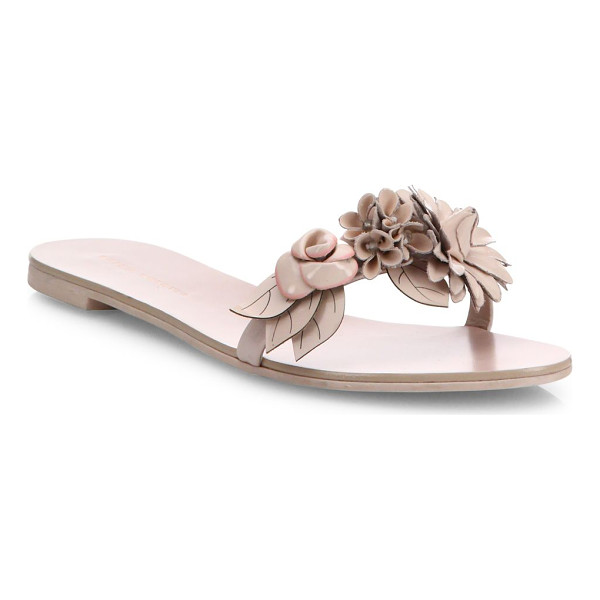 SOPHIA WEBSTER lilico leather slides - Effortless leather slide with floral-embellished band.