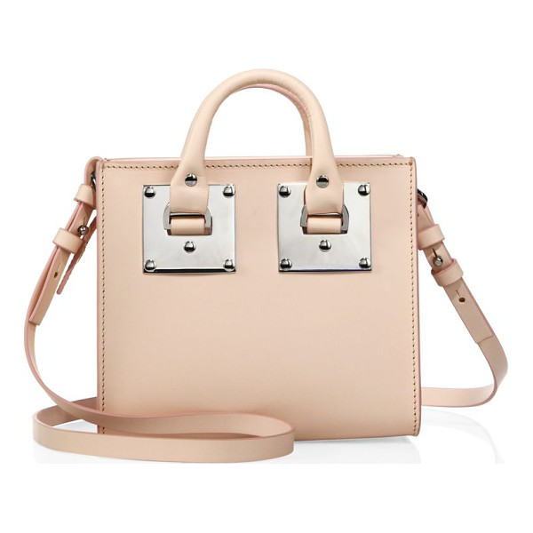 SOPHIE HULME albion square leather tote - Boxy silhouette with industrial-inspired hardware. Double...