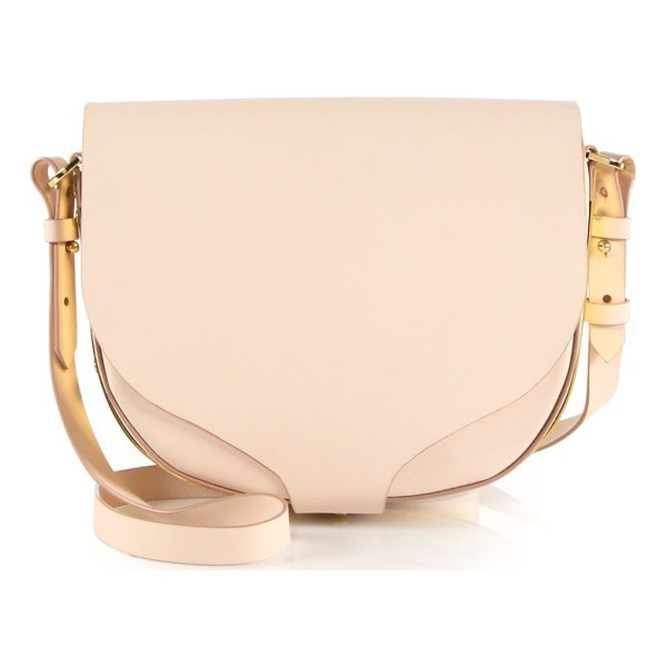 SOPHIE HULME Barnsbury medium leather saddle bag - Classic silhouette with elegant curved flap and gleaming...