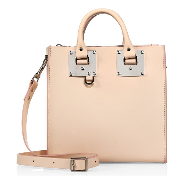 SOPHIE HULME mini leather box tote - Mini boxy silhouette with signature oversized hardware.
