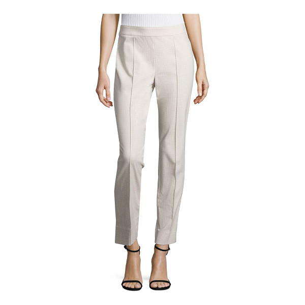 ST. JOHN emma stretch-cotton skinny pants - Slim, ankle-skimming silhouette tailored in stretch cotton....