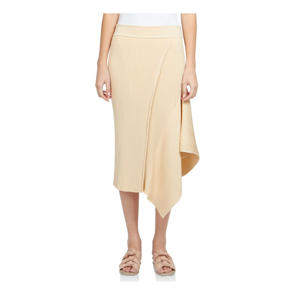 STELLA MCCARTNEY Asymmetrical rib-knit skirt - A streamlined design with sleek ribbed construction,...