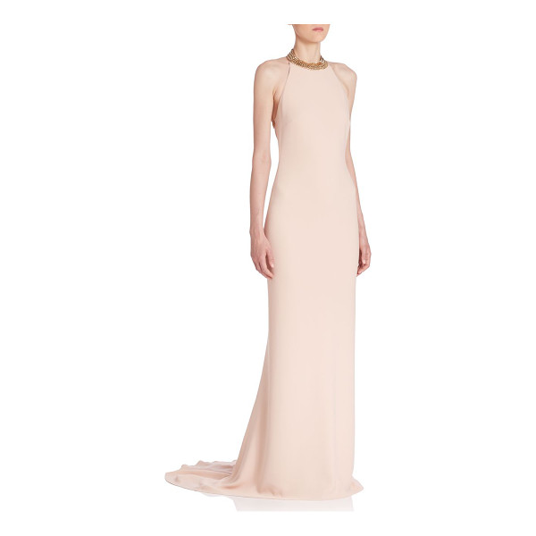 STELLA MCCARTNEY backless chain gown - Floor-sweeping gown flaunts backless silhouette and elegant...
