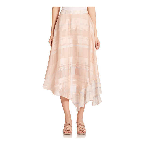 STELLA MCCARTNEY Check-print silk skirt - An asymmetrical silhouette lends a fluid look to this airy...