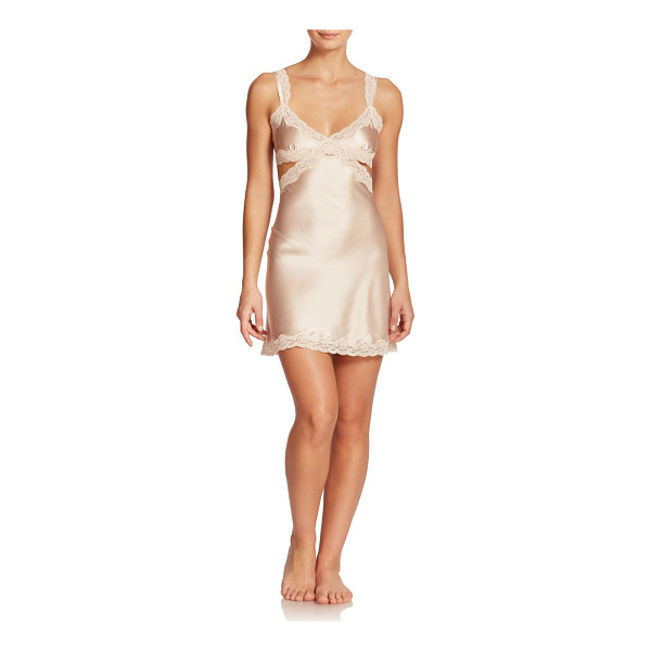 STELLA MCCARTNEY Clara whispering stretch silk chemise - Side cutouts and plunging v-back lend a sultry air to this...