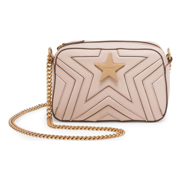 STELLA MCCARTNEY faux leather mini star crossbody bag - Mini star quilted crossbody bag with goldtone hardware....