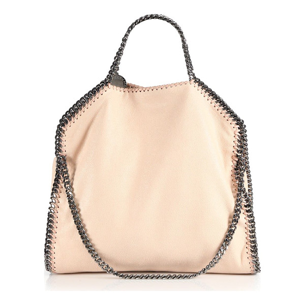 STELLA MCCARTNEY shaggy deer falabella fold-over small tote - Iconic foldover shape in shimmery suede-like polyester,...