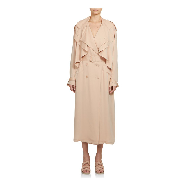 STELLA MCCARTNEY Silk ruffle trenchcoat - Ruffle overlay panels update the classic trench, rendered...