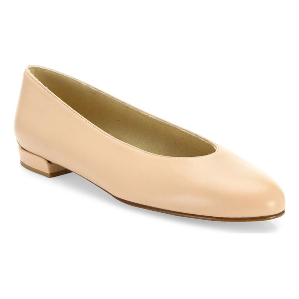 STUART WEITZMAN chicflat leather ballet flats - Minimalist leather flat with distinctive high-cut toe box....