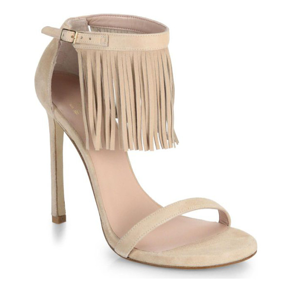 STUART WEITZMAN Fringed suede sandals - A tier of swinging fringe adds a fashion-forward dose of...