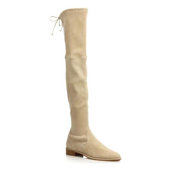 STUART WEITZMAN Lowland suede over-the-knee boots - Leg-lengthening suede boot cinched with slim back...