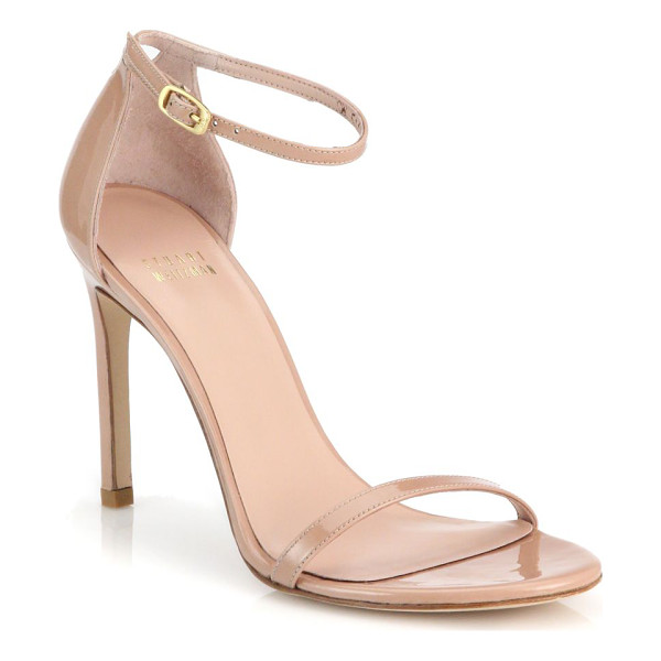 STUART WEITZMAN nudistsong patent leather sandals - Timeless sandals in gleaming patent leather. Self-covered...