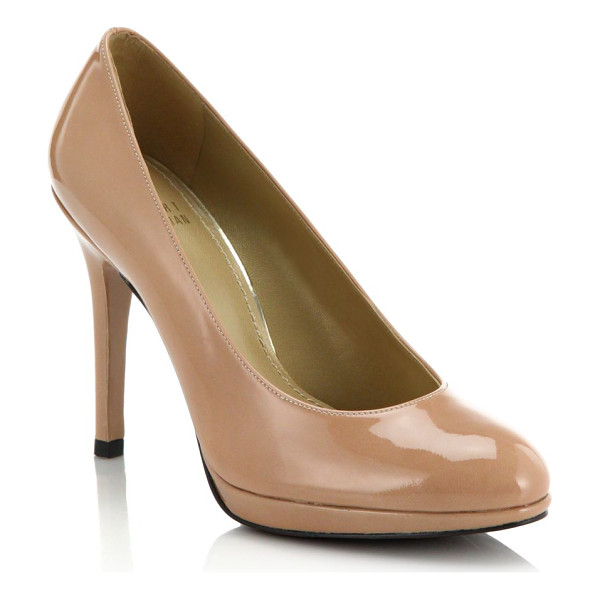 STUART WEITZMAN Patent leather pumps - Classic patent leather pumps in a neutral hue for a...